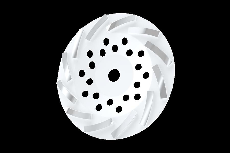Turbo Cup Wheel White #35-45