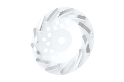 Turbo Cup Wheel White #35-45